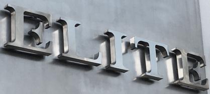 señalizacion edificios, Letras Corpóreas fabricadas en acero inox pulido