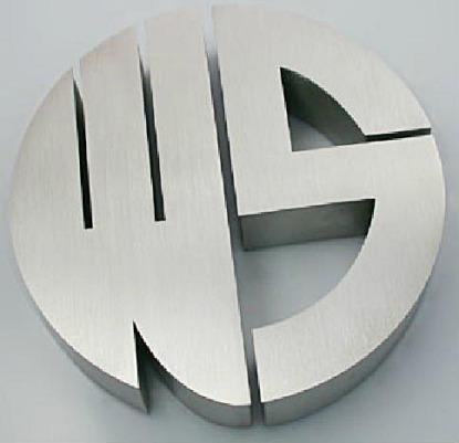 logos corporeos aluminio señalizacion edificios, indicativos hotel
