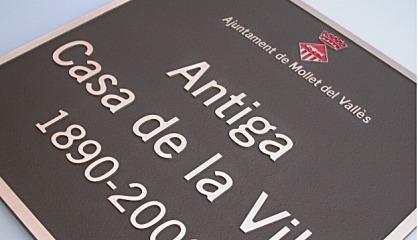 Placas grabadas y  en relieve en acero, placas hoteles, placas comercios, placas restaurantes