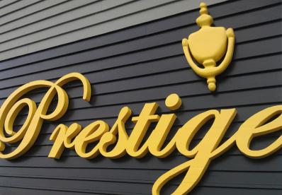logos corporeos acero señalizacion edificios, indicativos hotel