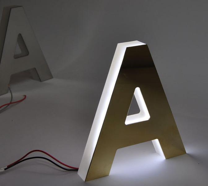 Letrart letras corporeas acero hotel comercios - Fabricacion letras corporeas ...