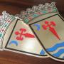 escudos de laton grabado