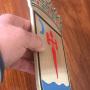 escudo recortado laser en material laton